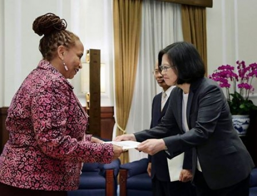 Ambassador H.E. Diane Haylock presented Credentials