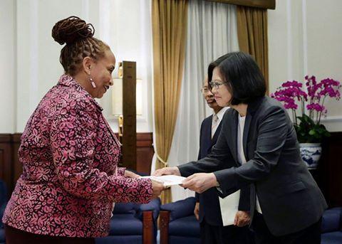 Ambassador H.E. Diane Haylock presented Credentials